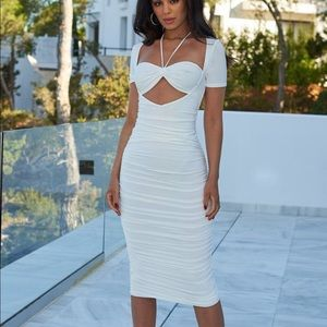 Sexy white summer dress